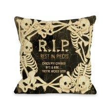 RIP Skeleton Border Pillow