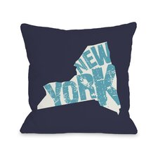 New York State Type Pillow