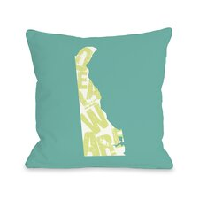 Delaware State Type Pillow