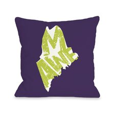 Maine State Type Pillow