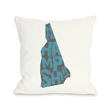 New Hampshire State Type Pillow