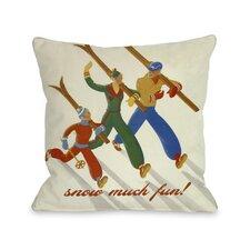Snow Much Fun Vintage Ski Pillow