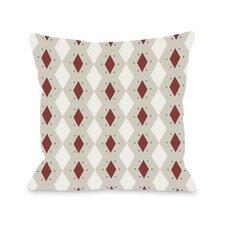 Diamond Dots Geometric Pillow