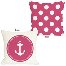 Polka Dot Back Anchor Pillow