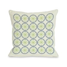 Circles & Flowers Throw Pillow