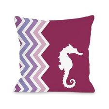 Chevron Seahorse Pillow