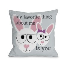 Favorite Thing About Me Bunnies Pillow