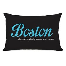 Boston Knows Your Name Pillow