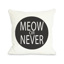 Meow Or Never Circle Pillow