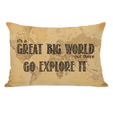 Great World Map Pillow