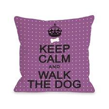 Doggy Décor Keep Calm and Walk The Dog Mini Dots Pillow