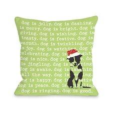 Doggy Décor Dogisms Holiday Pillow