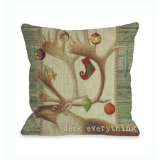 Deck Everything Antlers Pillow
