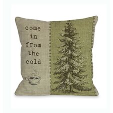 Come in From The Cold Tree Pillow