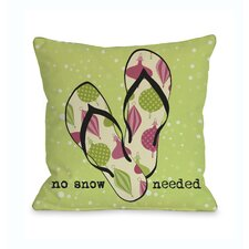 No Snow Needed Sandals  Pillow