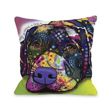 Doggy Décor Savvy Lab with Text Throw Pillow