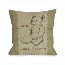 New Best Friend Bear  Pillow