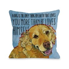Doggy Décor More Than He Loves Himself Pillow