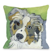 Doggy Décor Australian Sheep Dog 1 Throw Pillow