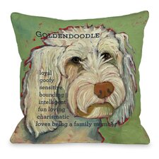 Doggy Décor Golden Doodle 1 Throw Pillow