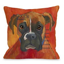 Doggy Décor Boxer 2 Throw Pillow