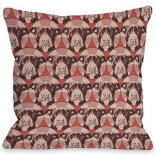 Doggy Décor Love a Bull Pattern Pillow