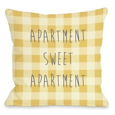 Apartment Sweet Apartment Gingham Pillow