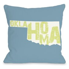 Oklahoma State Type Pillow