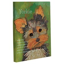 Doggy Decor Yorkie 1 Graphic Art on Canvas