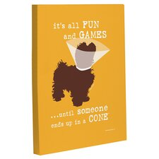 Doggy Decor Fun and Games Small Graphic Art on Canvas