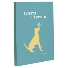 Doggy Decor Treats Not Tweets Graphic Art on Canvas