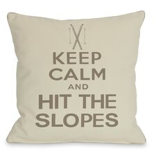 Keep Calm and Hit The Slopes Pillow