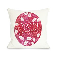 Merry Christmas Circle Ivy  Pillow