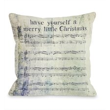 Merry Little Christmas Sheet Music  Pillow