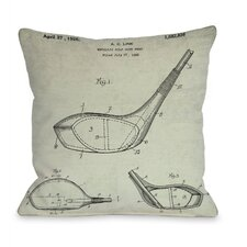 Metallic Golf Club Head 1926  Pillow