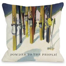 Powder to the People Vintage Ski Pillow