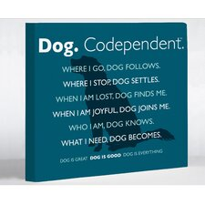 Dog Codependent Wall Decor