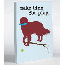 Doggy Decor Time For Play Graphic Art on Canvas