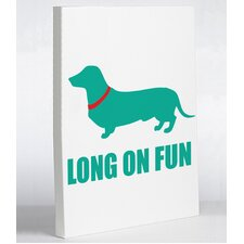 Doggy Decor Long on Fun Graphic Art on Canvas