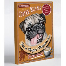 Doggy Decor Puggaccino Graphic Art on Canvas