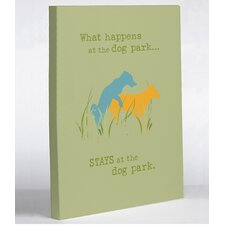 <strong>OneBellaCasa.com</strong> Dog Park Canvas Wall Decor