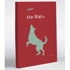 Aim High Dog Canvas Wall Decor