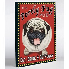 Portly Pug Canvas Wall Decor