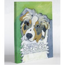 Doggy Decor Australian Shepherd 1 Graphic Art on Canvas