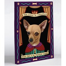 <strong>OneBellaCasa.com</strong> Chihuahua Saint Canvas Wall Decor
