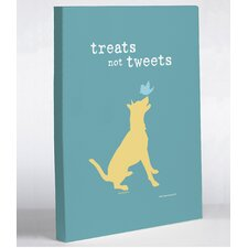 Treats Not Tweets Canvas Wall Decor
