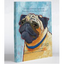 <strong>OneBellaCasa.com</strong> Pug 2 Wall Decor