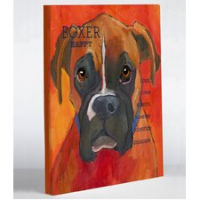 Doggy Decor Boxer 2 Graphic Art on Canvas