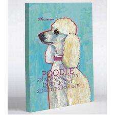 Doggy Decor Poodle 2 Graphic Art on Canvas