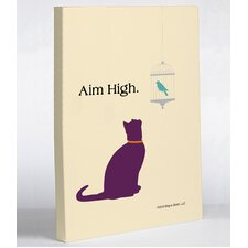 Aim High Cat Canvas Wall Decor
